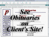 See Obituaries on a Client's Site!